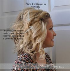 Love this little trick. Every hair stylist knows about crossed pins at the scalp.
