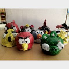 Angry bird pinch pots! This has been a great project because kids already have an idea of how to make them!