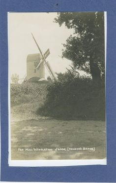 View of the windmill at Westleton, RP postcard | eBay