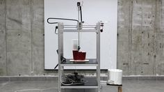 Industrial design graduate Andrey Grishko of new Tel Aviv studio AndreyAndShay has designed a machine for printing furniture and products by winding resin-soaked thread round a mould. Furniture Cleaner, Resin Furniture, Furniture Making, Furniture Design, Kitchen Furniture, 3 D, Innovation, Creative Architecture, Design Maker