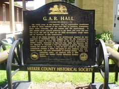 G.A.R. Hall Historical Marker in Litchfield, Minnesota