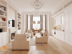 Фото дизайн интерьера гостиной из проекта «Дизайн квартиры 151 кв.м. в клубном доме «DEL' ARTE», современная классика»