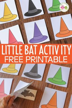 Preschool Halloween Game:  Little Bat Printable