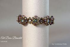 Half Tila Bracelet -Two holes beads - Art Deco Bracelet Tutorial  by SidoniasBeads