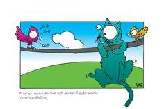 Simon le chat et les oiseaux qui Punch l'Oeil, par l'artiste-illustratrice Lenka Lagueux.
