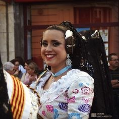 Las Fallas May be over, but these beauties will be back for many other festivals across La Comunidad Valenciana.   She smiled for me!