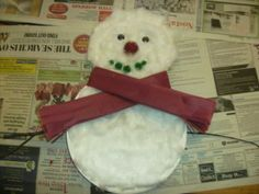 Paper Plate & Cotton Wool Snowman