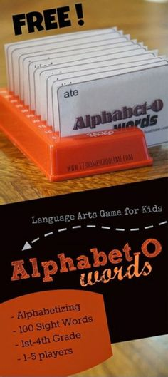 FREE!! Alpahbet-O is a fun, free printable Alphabetizing game for kids using dolche sight words. This is great for 1st grade, 2nd grade, 3rd grade, and 4th grade homeschool students.