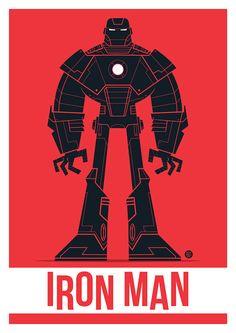 Iron Man Vector on Behance