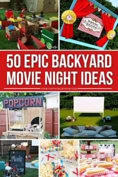 Host an incredibly outdoor movie night with these 50+ genius ideas. From screens and projectors to decor and even food we've collected the BEST outdoor movie night ideas for you! Backyard Movie Party, Backyard Movie Nights, Outdoor Movie Nights, Movie Night For Kids, Outdoor Movie Screen, Hot Dog Bar, Easy Diy Projects, Preschool Activities, Projectors