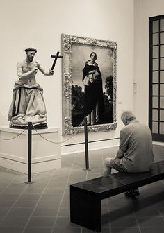 The sinner! (Taken at the Museo de Bellas Artes art gallery in Seville / Sevilla, Spain)