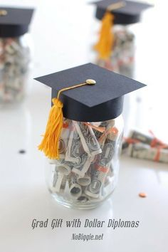 Graduation Gift with dollar diplomas - a great gift idea for your graduates. : Graduation Gift with dollar diplomas - a great gift idea for your graduates. College Graduation Gifts, College Gifts, Graduation Party Decor, Graduation Cards, Grad Parties, Graduation Ideas, Graduation 2015, Graduation Presents, Roommate Gifts