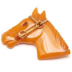 Horse pins are very popular in Bakelite.