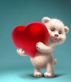 Animated Gif by Marie McGowan Heart Wallpaper, Love Wallpaper, Bear Cartoon, Cute Cartoon, Birthday Wishes Flowers, Love Heart Images, Bear Images, Cute Teddy Bears, Cute Gif
