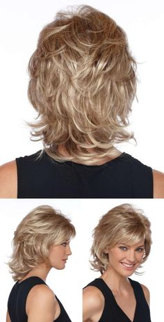 Bem na foto: Corte de cabelo médio repicado Well in the picture: Average haircut peeled ⋆ From Front Medium Layered Hair, Short Hair With Layers, Medium Hair Cuts, Short Hair Cuts, Medium Hair Styles, Short Stacked Hair, Medium Short Hair, Haircuts For Medium Hair, Short Shag Hairstyles