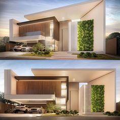 149 most popular modern dream house exterior design ideas -page 12 Best Modern House Design, House Front Design, Minimalist House Design, Modern House Plans, Villa Design, Facade Design, Exterior Design, Modern Architecture House, Architecture Design