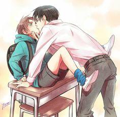 "Eren Levi | Shingeki no Kyojin #anime #yaoi - ""Sut up and put attention..."" Ricardo ♥"