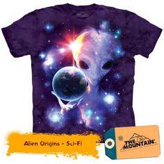 The Mountain Men's Alien Origins T-Shirt, Purple, Medium: The Mountain garment dyed alien origins graphic on men's t-shirt Alien Origin, Space Aliens, Mountain Man, Sliders, Classic T Shirts, Origins, The Originals, Purple, Prints