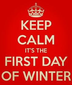 First day of winter and I'm already looking forward to spring;) #firstdayofwinter