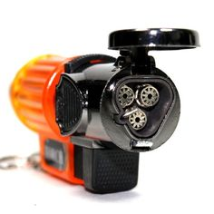 Orange Transparent Triple Jet Flames Refillable Butane Torch Lighter with Hands Free Flame Lock  3 14 Inch Height  Very Powerful ** You can find out more details at the link of the image.