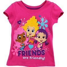 Nick Jr Bubble Guppies Toddler Girls Short Sleeve Tee www.YankeeToyBox.com #YankeeToyBox #Tees #Fashion #ValetinesDay