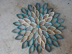 Dahlia wall hanging Teal home decor Paper wall art Original wall decoration Trendy colors and modern art combine in this incredible dahlia Paper Wall Hanging, Paper Wall Art, Paper Flower Wall, Paper Flowers, Wall Flowers, Wall Hangings, Toilet Paper Roll Art, Rolled Paper Art, Toilet Paper Roll Crafts