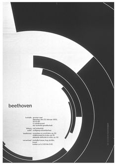 Müller-Brockmann's Beethoven Poster by Kimberly Elam, via Behance