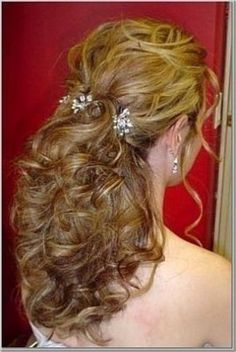 wedding hair down flower tattoos- I like that this is flows and has some hair down in front