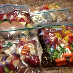 Frozen crockpot meals - I made 4 of the meals in the link below. Easy to make.