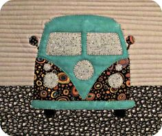 QuiltNut Creations: Cuter than Cute: VW Bus mini quilt.