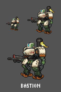 [Pixel Art] - Bastion Overwatch Sprites Twitter: pic.twitter.com/oFKvdCU5WL