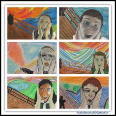 """Munch's """"The Scream"""" Elementary Art Master Response via RainbowsWithinReach"""
