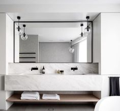 Industrial Master Bath for two. Image: Justin Alexande r for Corben Architects