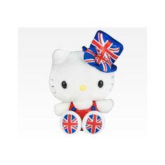 "Hello Kitty 9"" Plush London ($30) ❤ liked on Polyvore"