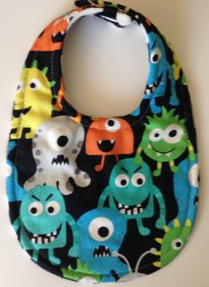 Baby Bib Monster Layer Super Absorbent Mom Approved by BananasBoutique on Etsy