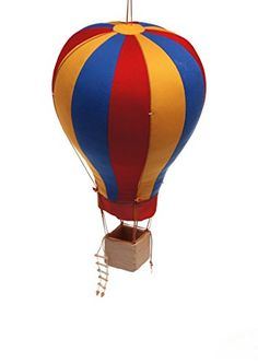 Hanging Textile Hot Air Balloon For Child Kid Room Nursery Decor Large *** Want to know more, click on the image.