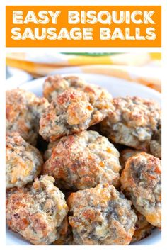 Sausage Balls Perfect for game day, breakfast or just because! Sausage balls are always a huge hit with everyone, you will want to make extras! Cheap Appetizers, Yummy Appetizers, Appetizer Recipes, Salad Recipes, Cinnabon, Cheese Ball Recipes, Cream Cheese Recipes, Best Sausage Ball Recipe, Cheddar
