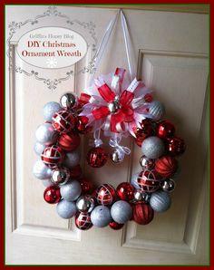 DIY Christmas Ornament Wreath Griffins Honey Blog