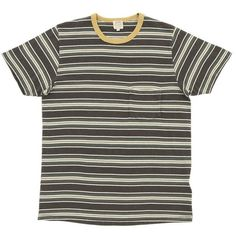 Levi's Vintage 1960s Stripe Tee ($60) ❤ liked on Polyvore featuring mens, men's clothing, men's shirts, men's t-shirts, tops, shirts, t-shirts, tees and pirate black