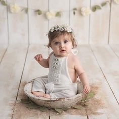 6-12 months Cream Romper-Photography Prop Bibs-Baby Photo Outfits-Kids Photography Props-Sitters Romper-Sitters Props-Sitters Outfit