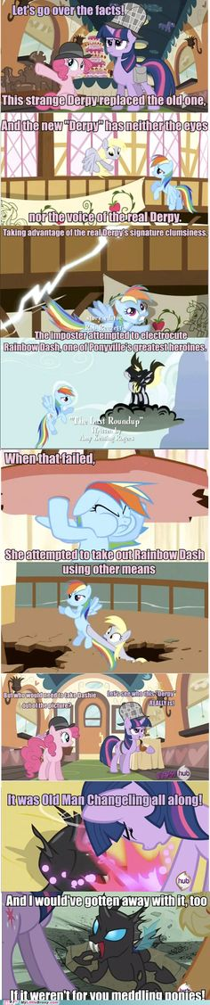 my little pony, friendship is magic, brony - Changelings Can Retcon ANYTHING