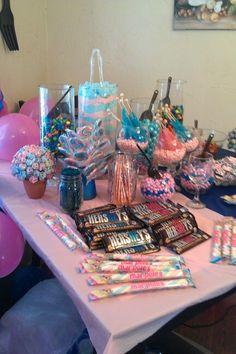Gender Reveal Candy Buffet