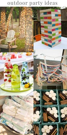 Assorted DIY ideas for your next outdoor party!