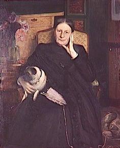 """"""" Portrait de madame Emile Blanche, mère de l'artiste Jacques Emile Blanche (1861-1942) """""""