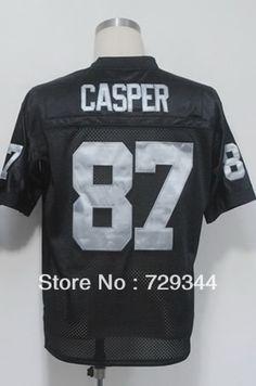 Wholesale Cheap American Football Jerseys-87 Dave Casper Men's Authentic 1974 Team Black Throwback Football Jersey Size:48-56,Fr $26.99