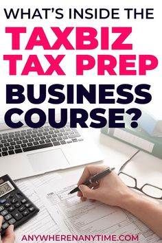 A tax preparation business? It's one of the most lucrative and well paying small business ideas (and this small biz doesn't require a college degree). Taxbiz offers tax prep training to start a tax prep business fast without all the uncertainty. Check out our indepth Taxbiz review now. Income Tax Preparation, Student Dashboard, Online Careers, Pmp Exam, Bookkeeping Business, Making Extra Cash, Continuing Education, Online Work, Project Management