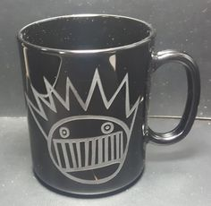 Sandblast Etched Ween Boognish Glass Coffee Mugs