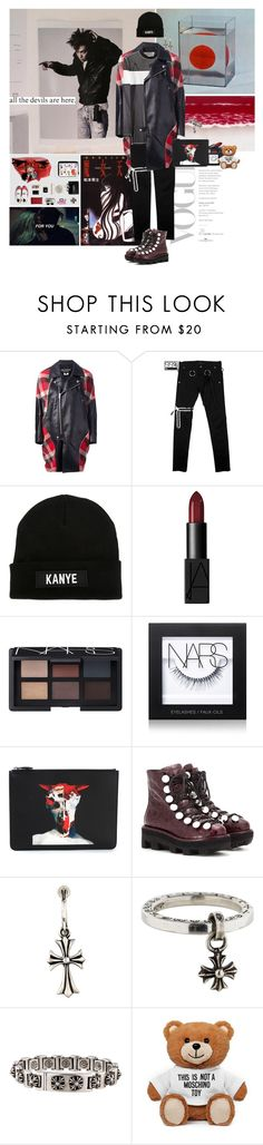 """""""Why you keep callin' me honey?"""" by gizibe ❤ liked on Polyvore featuring LES (ART)ISTS, NARS Cosmetics, Givenchy, Alexander Wang, Chrome Hearts and Moschino"""