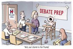 Best Donald Trump Cartoons of 2016: Debate Prep