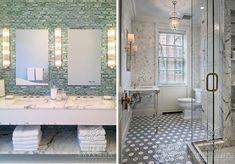ann sacks glass bathroom tiles cirrus | New Ravenna :: Pandora in Jewel Glass + Honeycomb in Stone